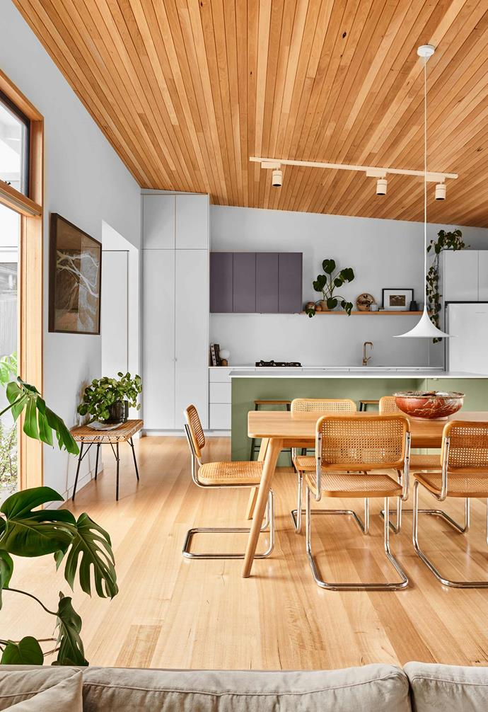 """**Kitchen/Dining** The island front is in [Dulux](https://www.dulux.com.au/