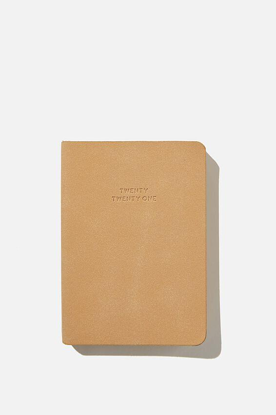 """Typo 2021 Soft A6 Daily Buffalo Diary in driftwood, $14.99, [Cotton On](https://cottonon.com/AU/2021-soft-a6-daily-buffalo-diary/1683722-06.html?dwvar_1683722-06_color=1683722-06&cgid=diaries-planners&originalPid=1683722-06 target=""""_blank"""" rel=""""nofollow"""")"""