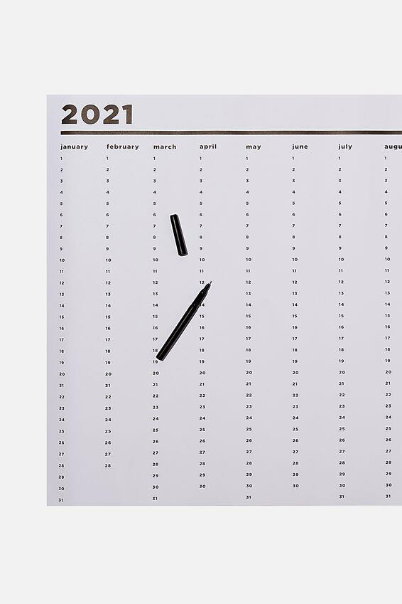 """Typo 2021 A1 Year Planner Roll, $19.99, [Cotton On](https://cottonon.com/AU/2021-a1-year-planner-roll/1683834-02.html?dwvar_1683834-02_color=1683834-02&cgid=diaries-planners&originalPid=1683834-02 target=""""_blank"""" rel=""""nofollow"""")"""