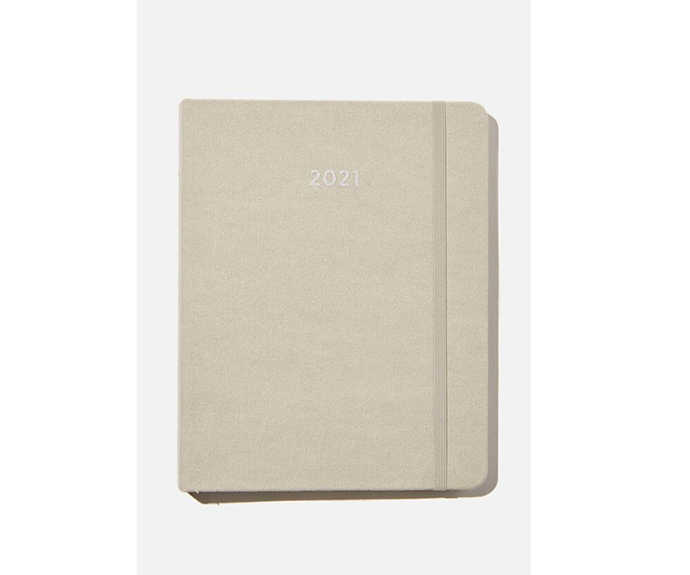 "Typo 2021 Premium Planner, $49.99, [Cotton On](https://cottonon.com/AU/2021-premium-planner/1683812-02.html?dwvar_1683812-02_color=1683812-02&cgid=diaries-planners&originalPid=1683812-02 target=""_blank"" rel=""nofollow"")"