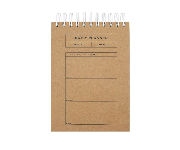 """Paperchase Order & Purpose Daily Planner, $19.95, [Myer](https://www.myer.com.au/p/paperchase-order-purpose-daily-planner target=""""_blank"""" rel=""""nofollow"""")"""
