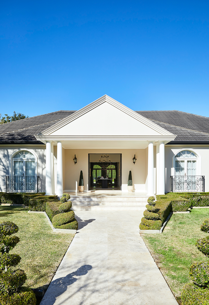 """The stately [home exterior](https://www.homestolove.com.au/home-exterior-designs-to-inspire-18972