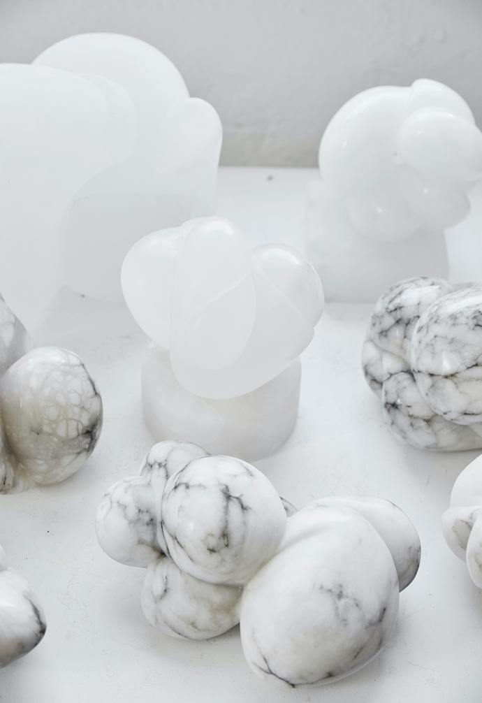 An assortment of interlocking nodules show Carol's signature sculptural forms.