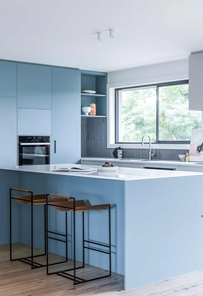 "**Kitchen** The use of Piketto Grey mosaic tiles from [Surface Gallery](https://surfacegallery.com.au/|target=""_blank""