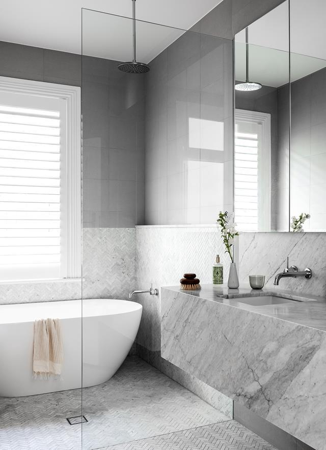"""Maximise your bathrooms' potential with these [four space savvy designs](http://www.homestolove.com.au/4-space-savvy-bathroom-layouts-4136