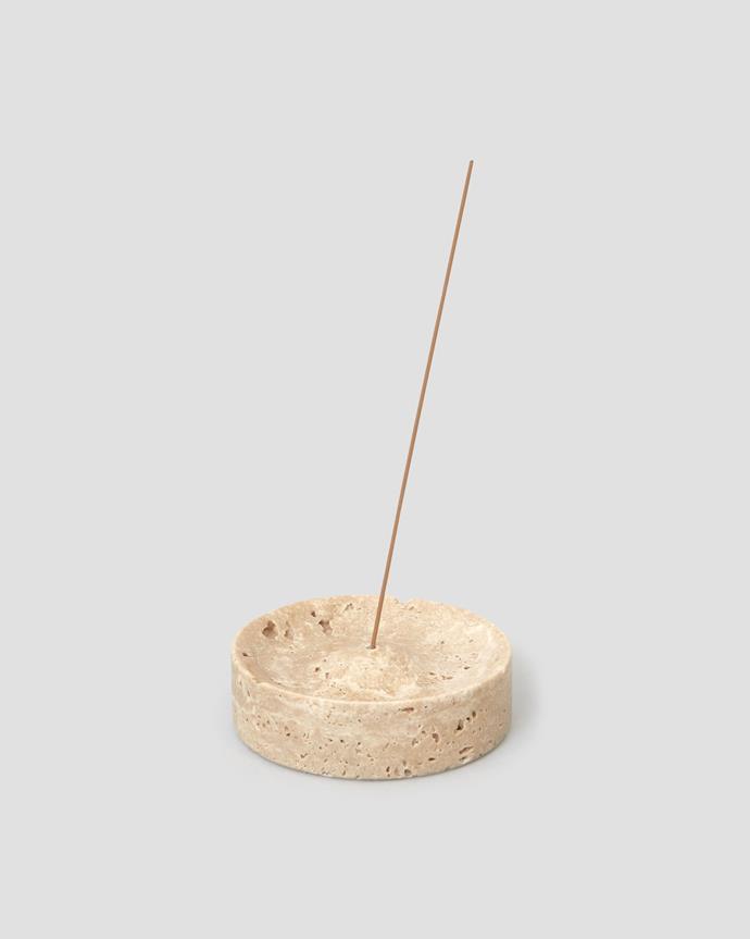 "Travertine Incense Burner, $65, [Jentl.](https://www.jentl.com.au/products/travertine-incense-burner|target=""_blank""|rel=""nofollow"")"