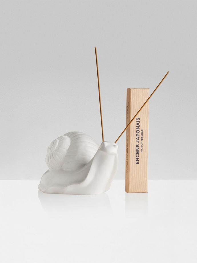 "Mr Escargot Incense Holder by Maison Balzac, $249, [Aura Home](https://www.aurahome.com.au/maison-balzac-incense-holder-mr-escargot|target=""_blank""|rel=""nofollow"")"