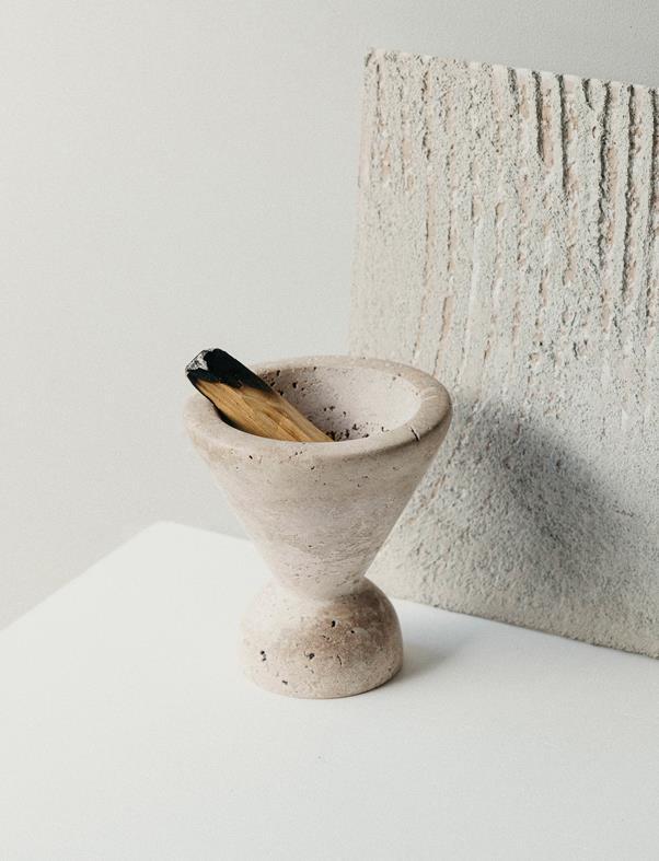 "Neue Void Incense Burner, $299.95, [Addition Studio](https://www.additionstudio.com/product/neue-void-incense-burner/|target=""_blank""|rel=""nofollow"")"