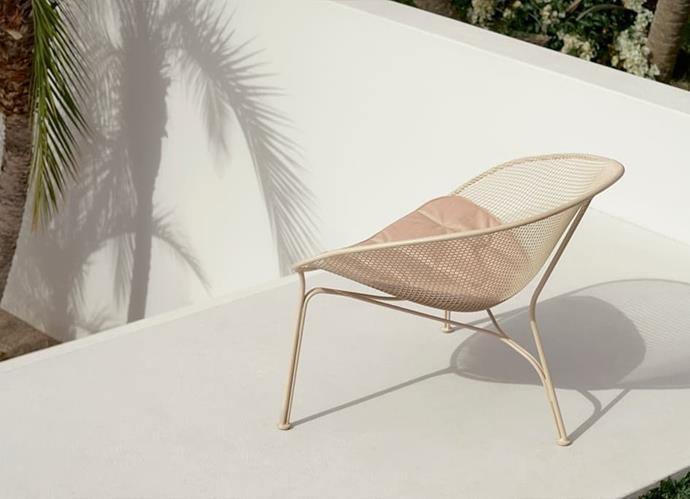 "Luna outdoor chair in Salt, $1300, [King Living](https://www.kingliving.com.au/luna-outdoor-chair target=""_blank"" rel=""nofollow"")."