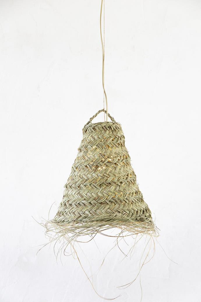 "Bell Straw Pendant - M, $59, [Tigmi Trading](https://tigmitrading.com/collections/lighting-all/products/bell-straw-pendant-m|target=""_blank""