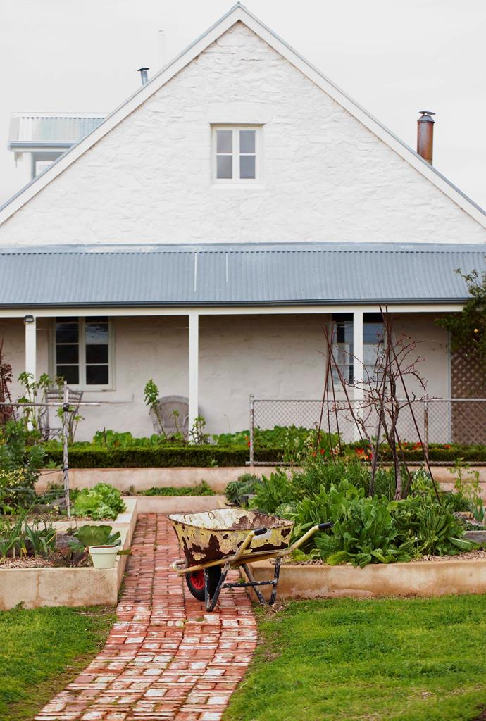 Maggie's kitchen garden is located close to the farmhouse.