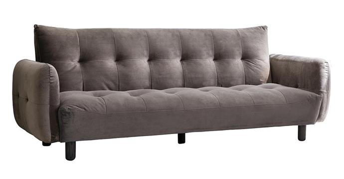 """**Cologne Sofa Bed in Titanium Velvet, $1479, [Interiors Online](https://interiorsonline.com.au/products/cologne-sofa-titanium-velvet