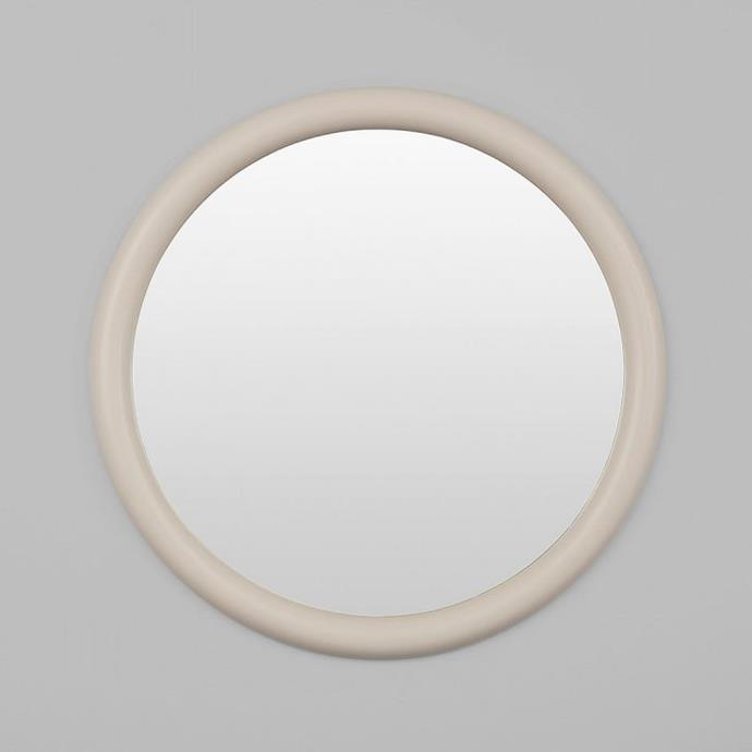 """Middle of Nowhere May Round Mirror, Nude 100cm, $419, [Design Stuff](https://www.designstuff.com.au/product/middle-of-nowhere-may-round-mirror-nude-100cm/