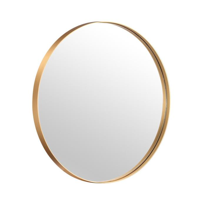 "Luxe Thin Brass Gold Round Metal Frame Bathroom Mirror, from $299, [Luxe Mirrors](https://www.luxemirrors.com.au/product/luxe-thin-brass-gold-round-metal-frame-bathroom-mirror/?attribute_size=600mm+Diameter&dTribesID=3edf76c6cf08098803df849e8c962213%7Cadtribes%7C152434&utm_source=google&utm_campaign=shopping&utm_medium=cpc&utm_term=152434&gclid=CjwKCAiAo5qABhBdEiwAOtGmbk9HEVWgEk2e05tRTCAyGKOPaYccRm8Mz5Tu5Zz6Mx4ZOHE5M6jDLBoCFdEQAvD_BwE|target=""_blank""|rel=""nofollow"")"