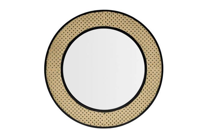 "Shangri-La Ella Rattan Round Frame Mirror, $49.99, [Matt Blatt](https://www.mattblatt.com.au/mb/buy/shangri-la-ella-rattan-round-frame-mirror-shangri-la/|target=""_blank""|rel=""nofollow"")"
