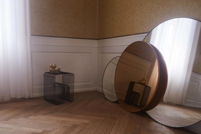 "AYTM Circum Mirror in Amber, $284, [Finnish Design Shop](https://www.finnishdesignshop.com/decoration-mirrors-wall-mirrors-circum-mirror-amber-p-19843.html|target=""_blank""|rel=""nofollow"")"