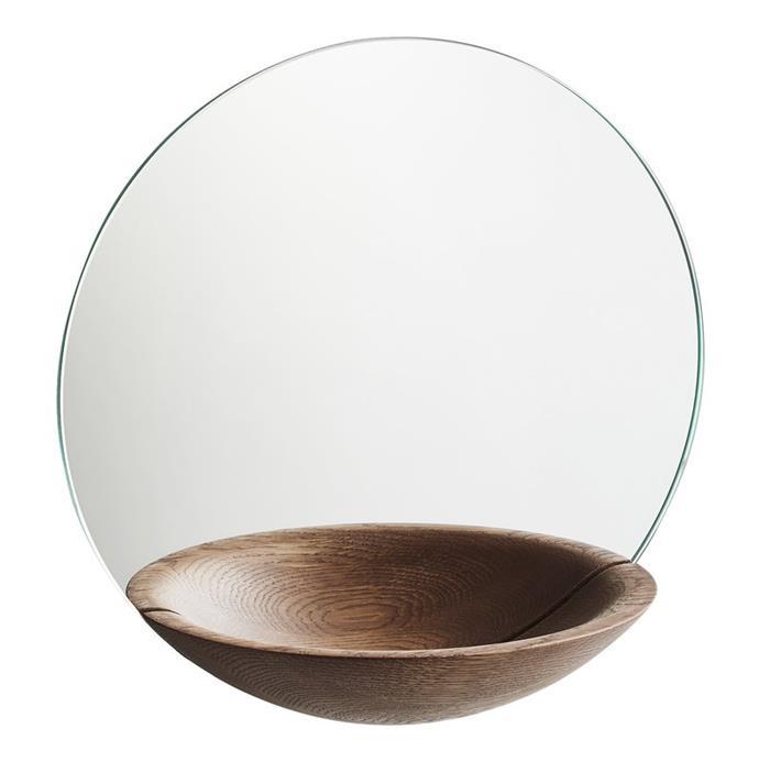 "Woud Pocket Mirror in Smoked Oak by Daniel Schofield, $379, [Finnish Design Shop](https://www.finnishdesignshop.com/decoration-mirrors-wall-mirrors-pocket-mirror-large-smoked-oak-p-17275.html|target=""_blank""|rel=""nofollow"")"