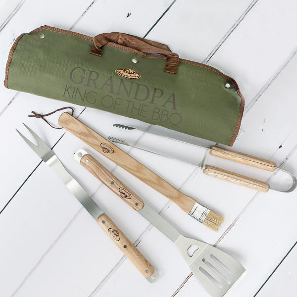 "Personalised BBQ tool set by Jonny's Sister, $135, [hard to find](https://www.hardtofind.com.au/152520_personalised-bbq-tool-set|target=""_blank""