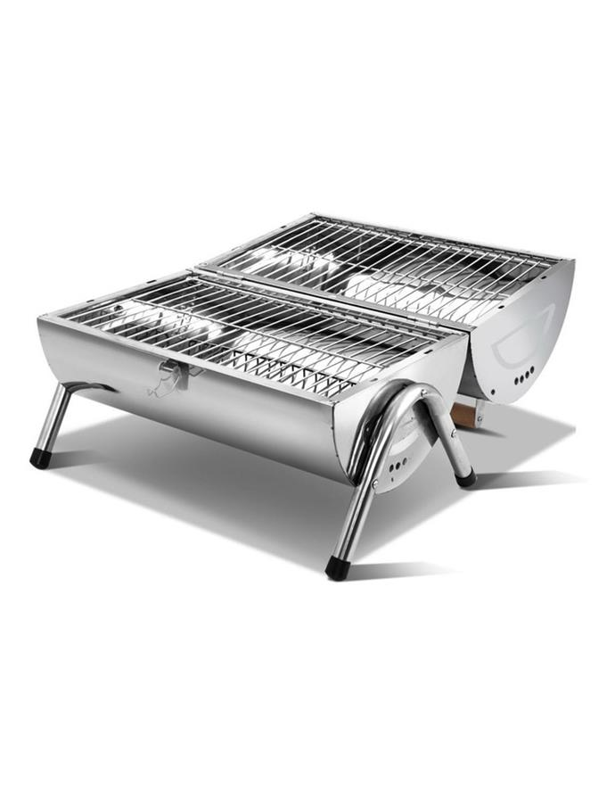 "Grillz from MyPlaza Portable Bbq, $72.95, [Myer](https://www.myer.com.au/p/grillz-grillz-portable-bbq-drill-outdor-camping-charcoal-barbeque-smoker-foldable|target=""_blank""