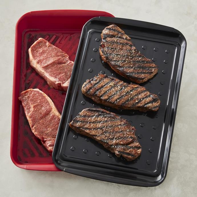 "BBQ Marinade Tray, $81, [Williams Sonoma](https://www.williams-sonoma.com.au/williams-sonoma-bbq-marinade-tray|target=""_blank""