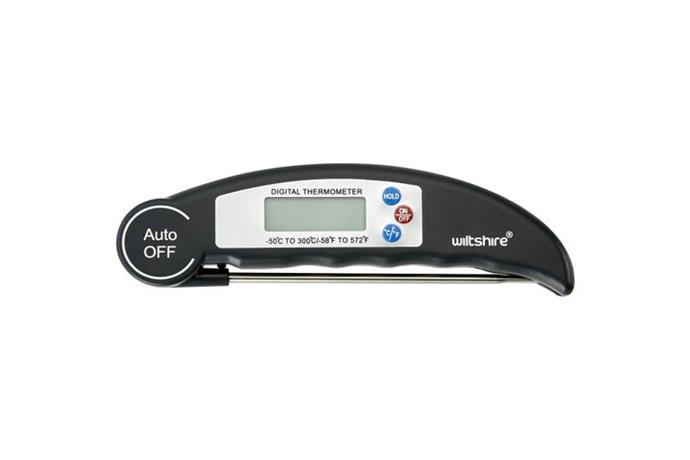 "Wiltshire BBQ Digital Thermometer, $27.95, [Kogan](https://www.kogan.com/au/buy/purplespoilz-wiltshire-bbq-digital-thermometer-52169/|target=""_blank""