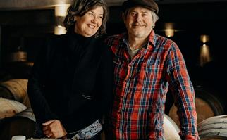 Tasmanian sparkling winemakers Steve and Monique Lubiano of Stefano Lubiano Wines.