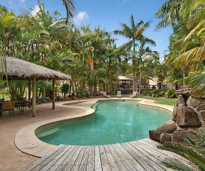 The property features a 17-metre long resort-style swimming pool.