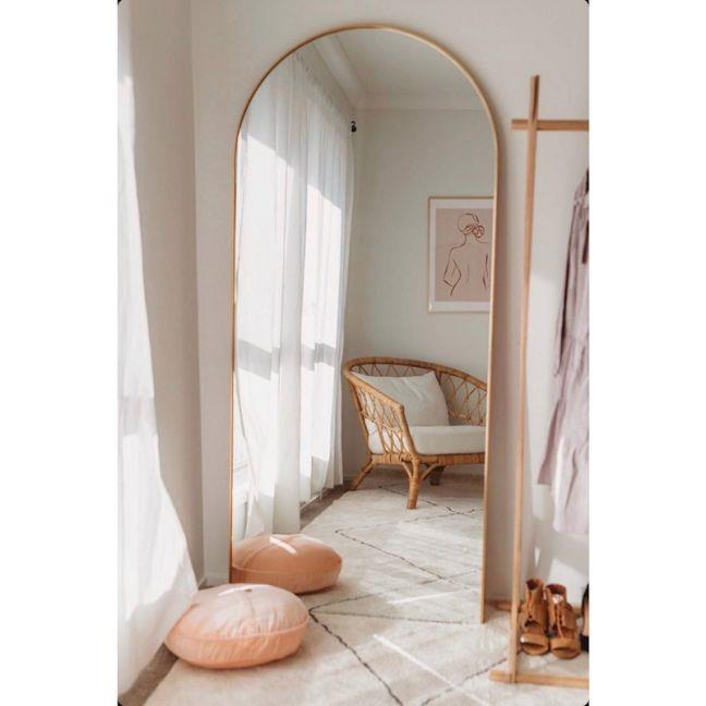 "Bjorn Arch Tall Mirror, $900, [The Block Shop](https://www.theblockshop.com.au/product/bjorn-arch-tall-mirror-117802/|target=""_blank""|rel=""nofollow"")"
