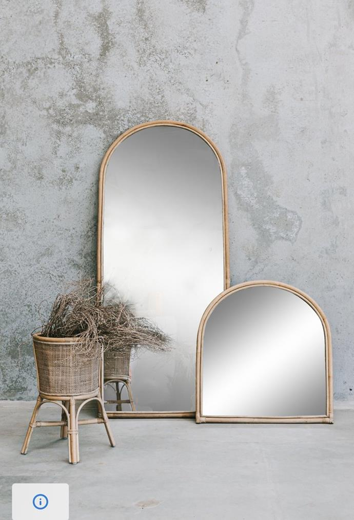 """Arch Mirror, $299, [Byron Bay Hanging Chairs](https://www.byronbayhangingchairs.com.au/products/arch-mirror