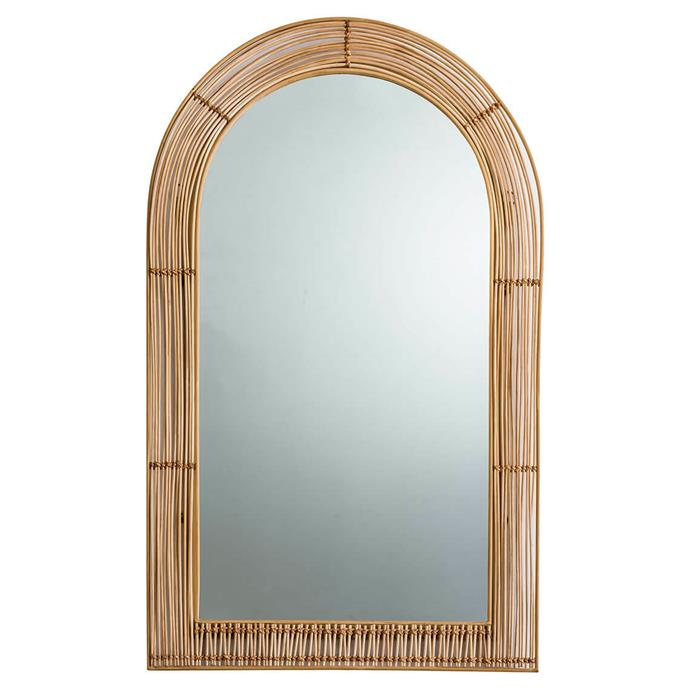 "Cane Arch Mirror, $259, [Freedom](https://www.freedom.com.au/product/24293280|target=""_blank""|rel=""nofollow"")"