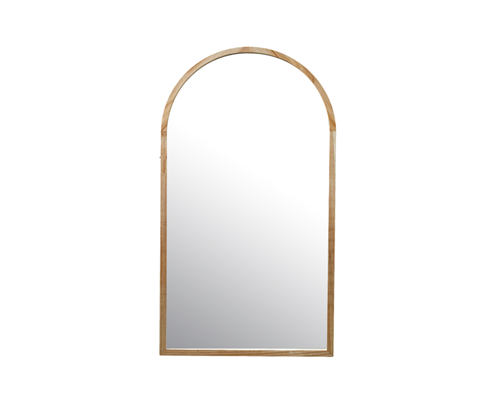 """Tate Arched Wooden Framed Wall Mirror, $149, [Temple & Webster](https://www.templeandwebster.com.au/Tate-Arched-Wooden-Framed-Wall-Mirror-INTA90T-TMPL2016.html