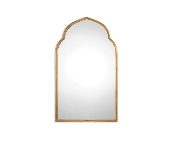 """Uttermost Kenitra Arch Mirror, $1,020, [Shine Mirrors](https://www.shinemirrors.com.au/collections/arched-mirrors-online-australia/products/uttermost-kenitra-arch-mirror