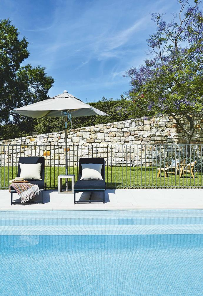 **Pool area** The pool fence allows easy viewing from both inside and outside the pool.