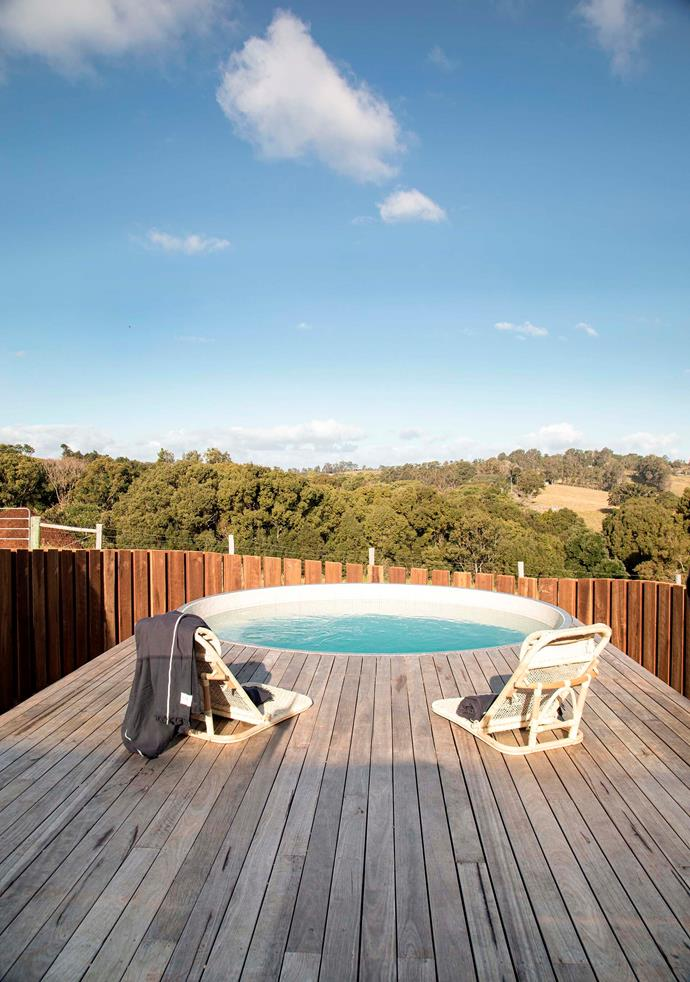 """The plunge pool. Julie and Sean used local tradespeople wherever possible. """"We were able to find builders who were friends of people we knew, and tradespeople I've known since I was at school in Lismore,"""" says Julie."""