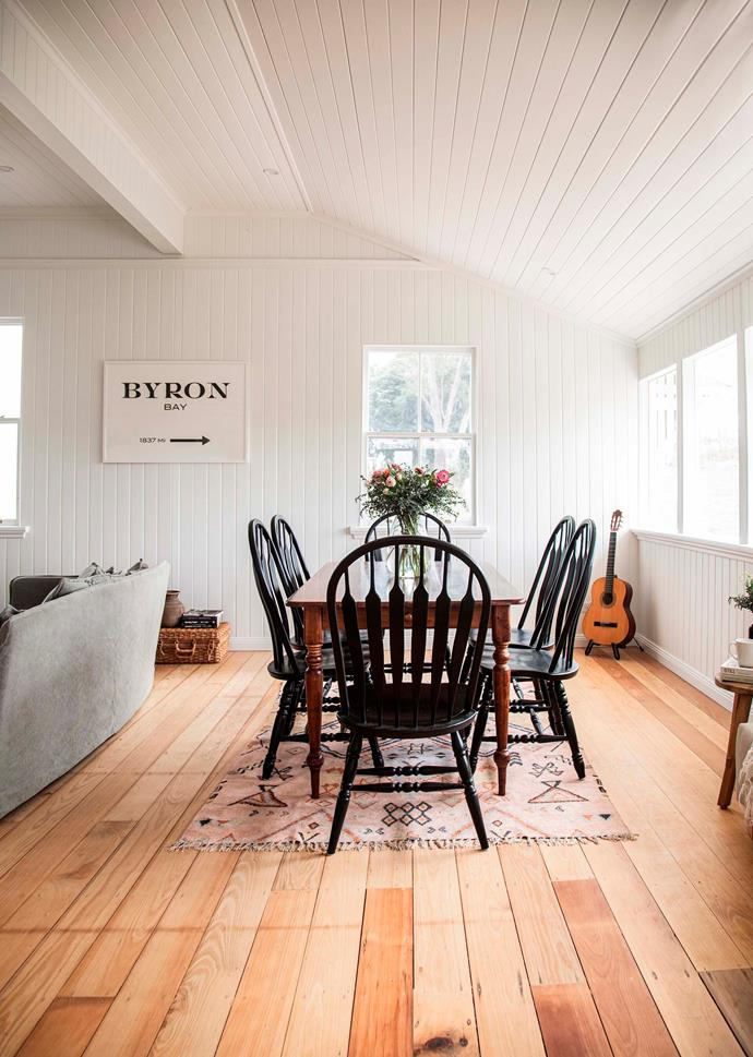The open plan living and dining room.