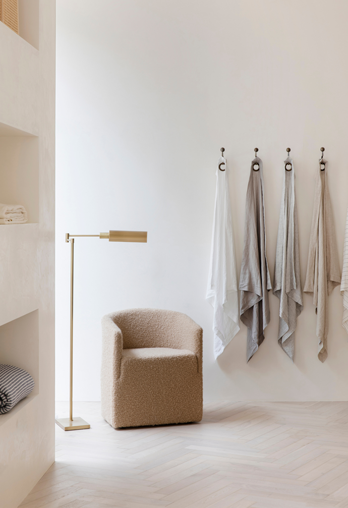 "bouclé chair and vintage-inspired reading lamp create a homely corner in [Cultiver's flagship store in Mosman](https://www.homestolove.com.au/cultiver-store-mosman-21957?epik=dj0yJnU9cDV1akNsMzZva1JGTHpaa01KVG9RVS1TMTVHTVl2MjcmcD0wJm49ZE1UUlJxSEtkQjIxMS1WRkdRZkZKQSZ0PUFBQUFBR0FYaV9V|target=""_blank"")."