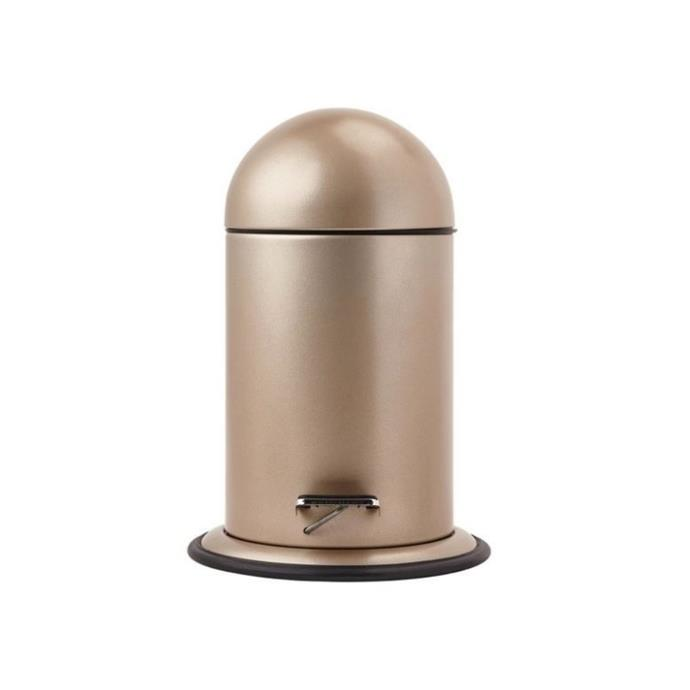 """If you're looking for something a little bit different to put in your bathroom, Aquanova's 'Ona' 3L pedal bin might just be it. This sleek design features a dome-shaped lid and rounded base for a chic look. It's made from stainless steel and polypropylene for long term durability with daily use. $139.95, [Zanui](https://www.zanui.com.au/Ona-3L-Pedal-Bin-175902.html