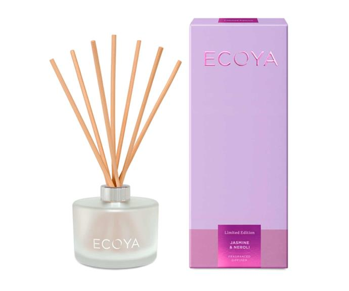 "**Jasmine & Neroli Fragranced Diffuser, $49.95. [Ecoya](https://www.ecoya.com.au/collections/limited-edition/products/jasmine-neroli-fragranced-diffuser|target=""_blank""