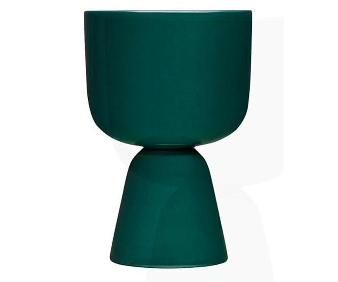 "**Nappula Plantpot 23cm Dark Green, $139, [Iittala](https://www.iittala.com.au/nappula-plantpot-23cm-dark-green.html|target=""_blank""