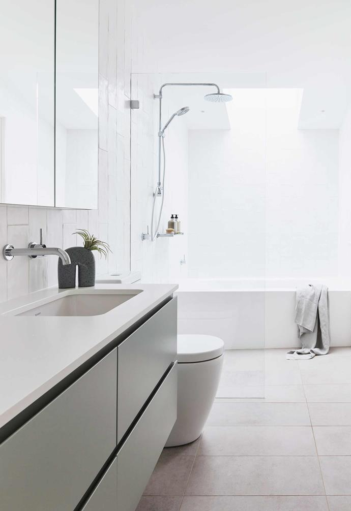 """**Bathroom** The cabinetry and benchtops here and in the ensuite match the finishes in the kitchen, while a [Velux](https://www.velux.com.au/
