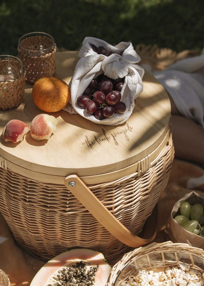 """Picnic Basket, $199, [The Beach People](https://thebeachpeople.com.au/collections/accessories/products/picnic-basket target=""""_blank"""" rel=""""nofollow"""") <br><br> Why not skip the lines and crowds and surprise them with a picnic basket all set for a delightful alfresco meal. This adorable round basket will hold all their favourite treats and become a practical edition to their home."""