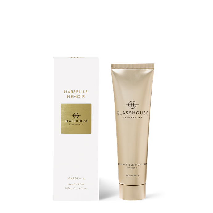 """Marseille Manor Gardenia Hand Cream 100mL, $24.95, [Glasshouse Fragrances](https://www.glasshousefragrances.com/collections/personal-fragrance-hand-cream/products/100ml-hand-cream-marseille-memoir?variant=31391480971348 target=""""_blank"""" rel=""""nofollow"""") <br><br> If a simple, small token is in order you can't go past one of these new Glasshouse hand creams. Scented and luxurious, the hand balm will transport them to a manor house in France and remind them of your love in days to come."""