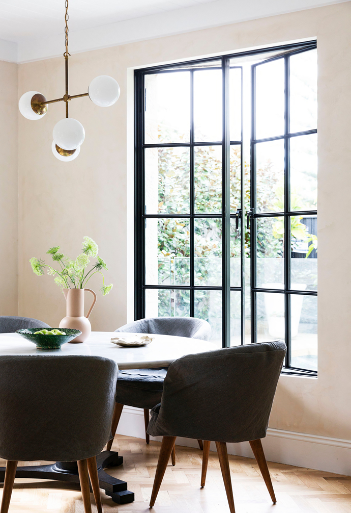 """In the [dining area](https://www.homestolove.com.au/relaxed-dining-area-ideas-3675