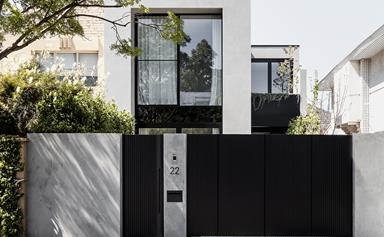 A contemporary yet timeless home built on a narrow site in Toorak