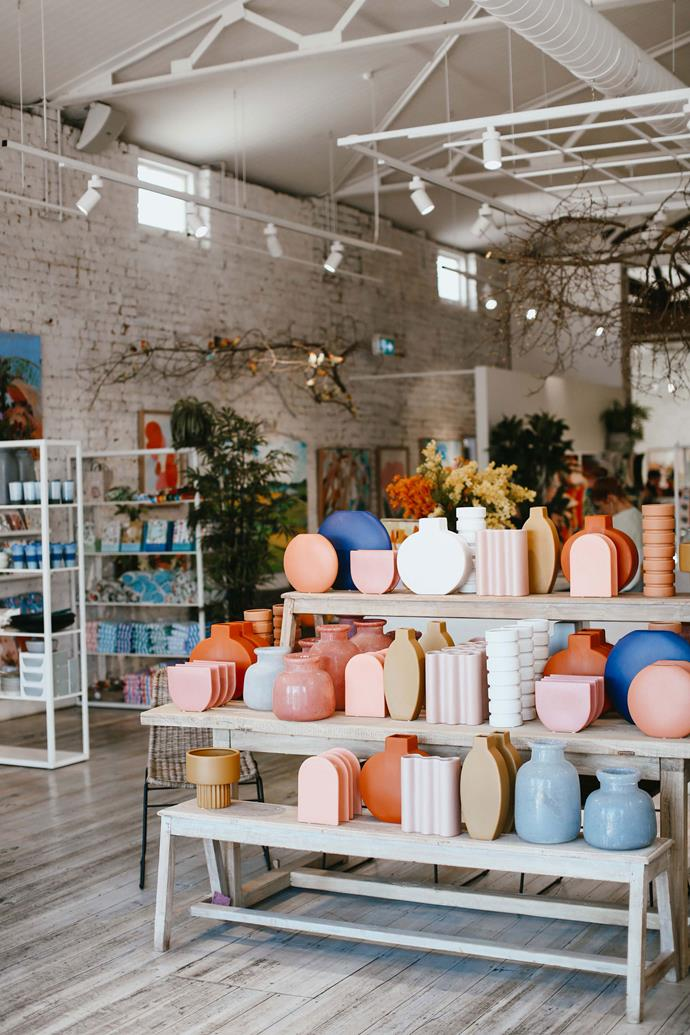 Some of the unique and colourful ceramic and pottery cases and pots available from Jumbled.