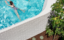 A small-space pool design that pushes design boundaries