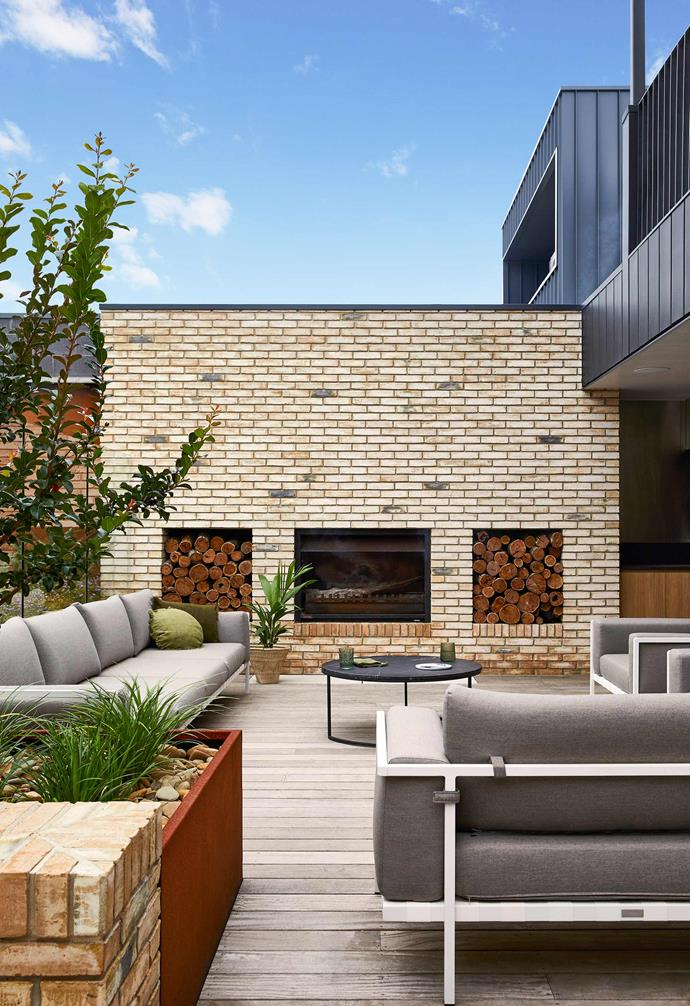 "**Outdoor area** Extending from the family room, the spacious outdoor entertaining zones big enough  to host large groups were a must-have from the start. ""We love to entertain,"" Jane tells. Porta Cumaru hardwood decking. Natal Alu outdoor sofa, [Cosh Living](https://coshliving.com.au/