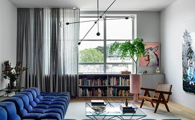 A stylish apartment within a heritage warehouse building