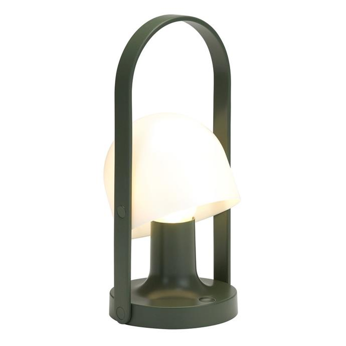 """**Marset FollowMe lamp, $295, [Finnish Design Shop](https://www.finnishdesignshop.com/lighting-table-lamps-table-lamps-followme-lamp-green-p-26366.html