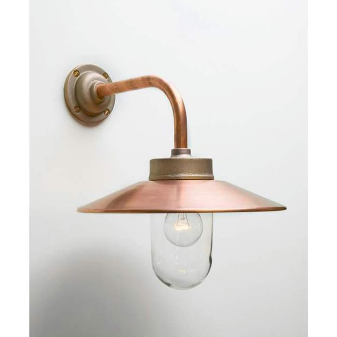 """**Chelsea Outdoor Wall Light from Davey Lighting, from $788, [Robert Plumb](https://robertplumb.com.au/products/chelsea-outdoor-wall-light-from-davey-lighting